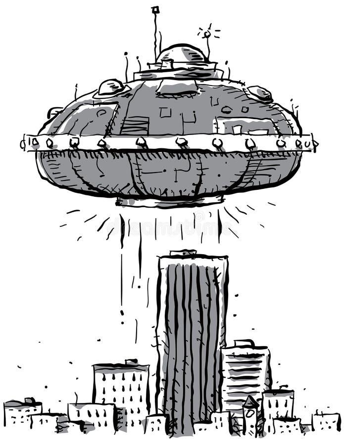 De Stad van het UFO stock illustratie
