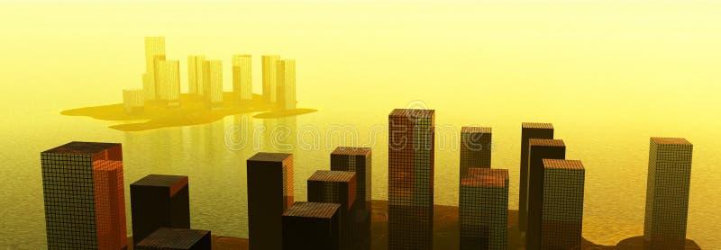 De Stad van het water stock illustratie