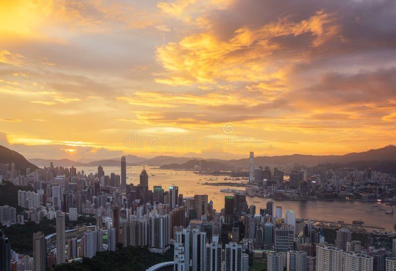 De Stad van Hongkong stock fotografie