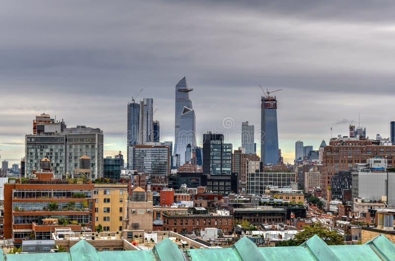 De Stad van Hudson Yards - van New York stock foto's