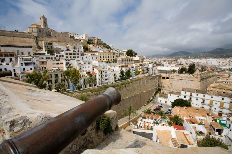 De Stad van Ibiza stock afbeelding