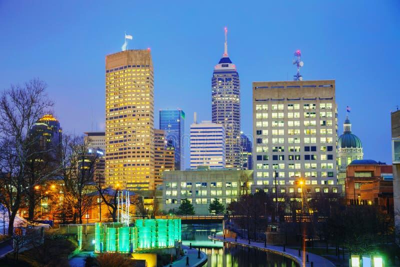 De stad in van Indianapolis stock foto