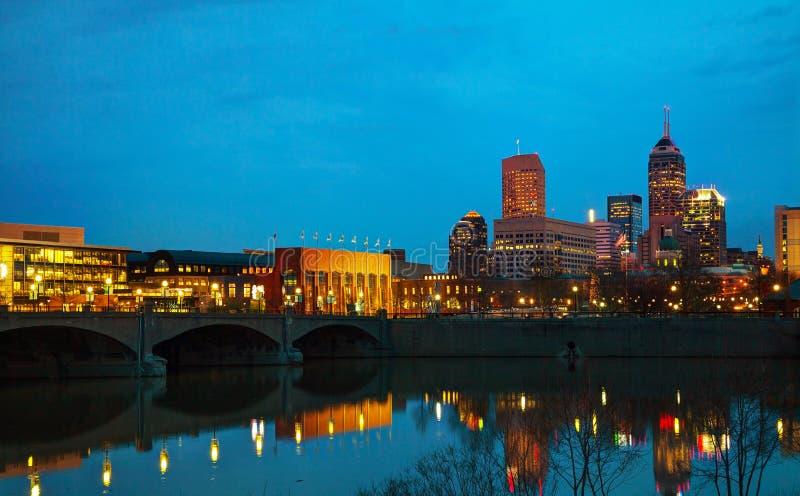 De stad in van Indianapolis royalty-vrije stock afbeeldingen