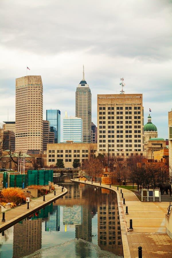 De stad in van Indianapolis stock afbeelding