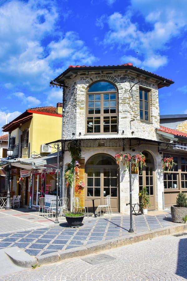 De stad van Ioannina Griekenland in het gebied van Epir Epirus stock afbeeldingen