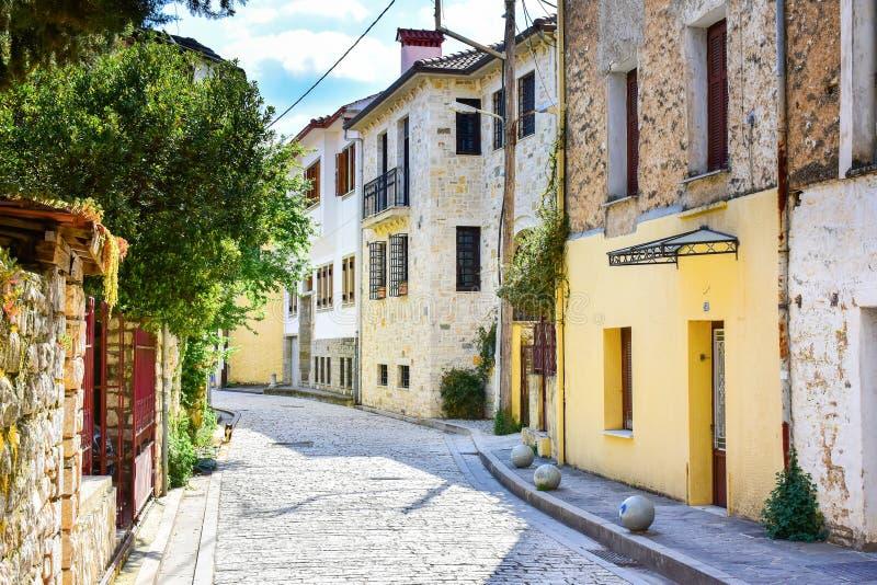 De stad van Ioannina Griekenland in het gebied van Epir Epirus stock foto's