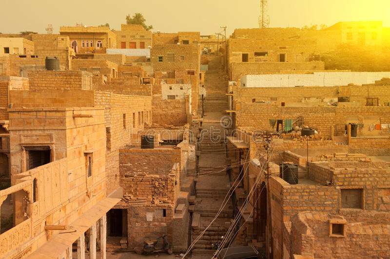 De stad van Jaisalmer royalty-vrije stock fotografie