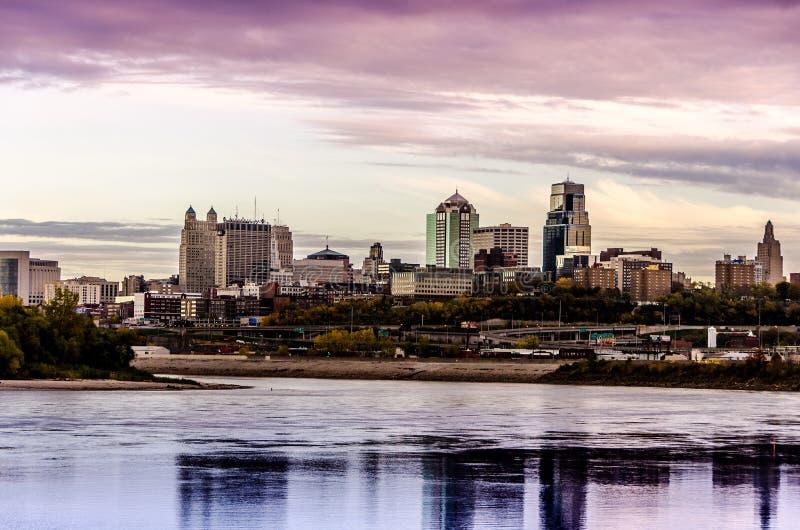 De stad van Kansas City Missouri scape stock afbeeldingen