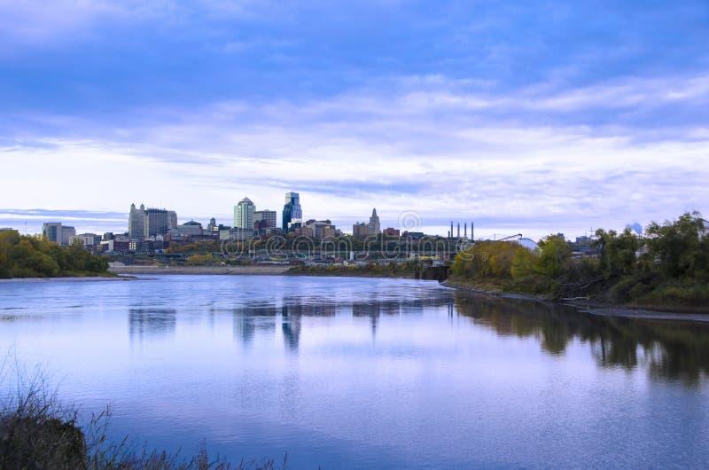De stad van Kansas City Missouri scape royalty-vrije stock afbeeldingen