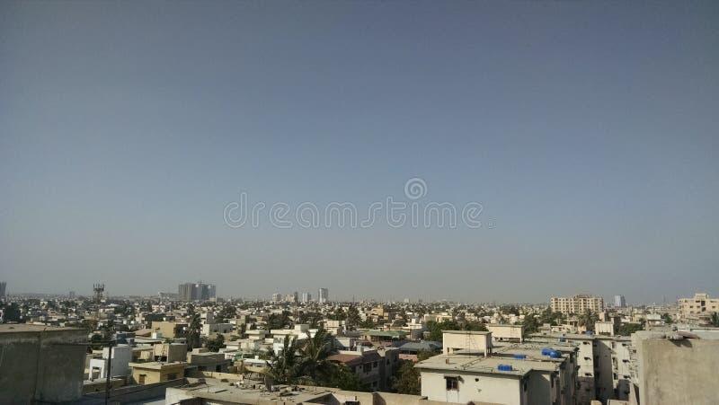 De Stad van karachi stock afbeeldingen