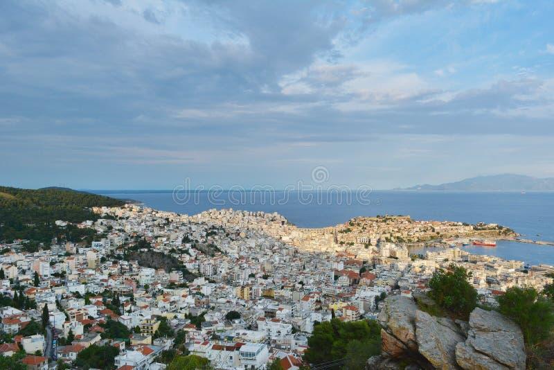 De Stad van Kavala stock afbeeldingen