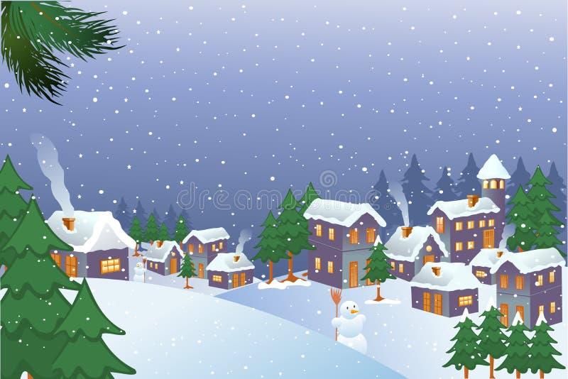 De Stad van Kerstmis vector illustratie