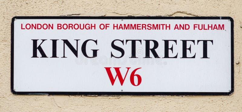 De Stad van koningsStreet W6 Londen van Hammersmith en Fulham stock fotografie