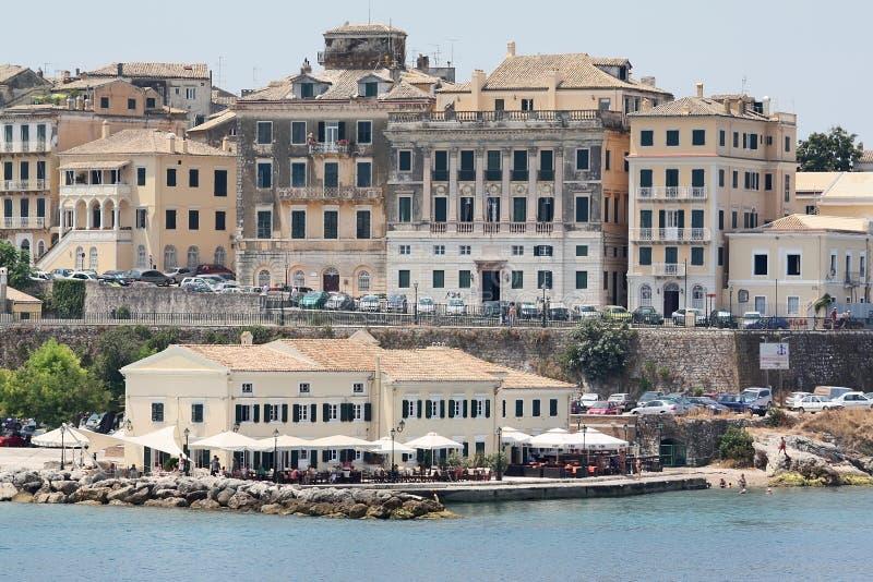 De stad van Korfu royalty-vrije stock afbeelding