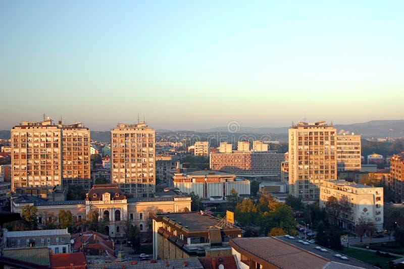 De stad van Kragujevac stock foto's