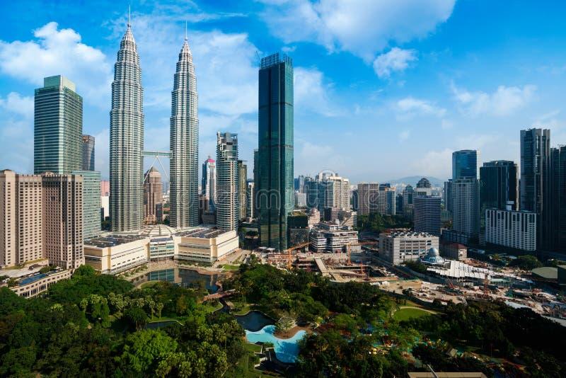 De stad van Kuala Lumpur stock afbeeldingen
