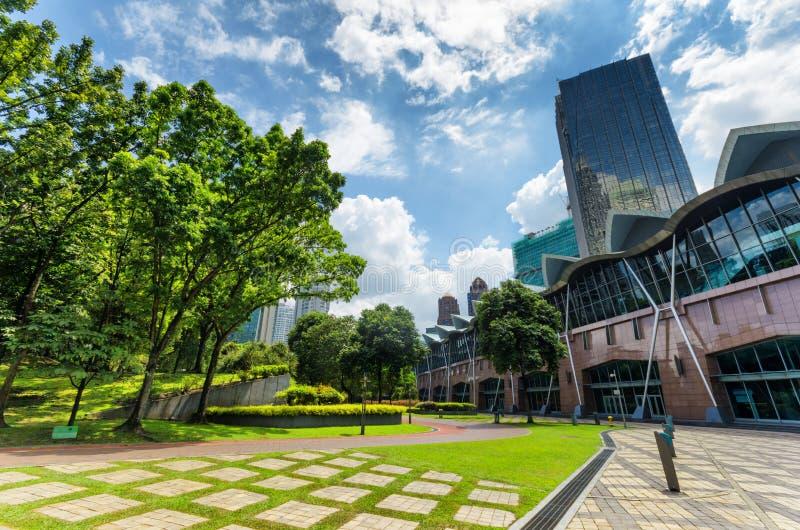 De stad in van Kuala Lumpur in KLCC-district stock foto