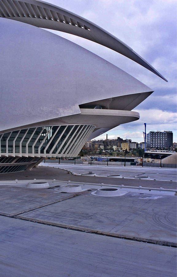 De stad van Kunsten en Wetenschappen stock afbeeldingen