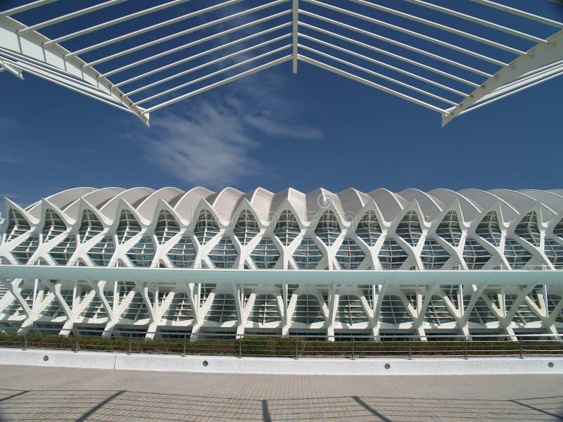 De Stad van Kunsten en Wetenschappen, Valencia Spain stock fotografie
