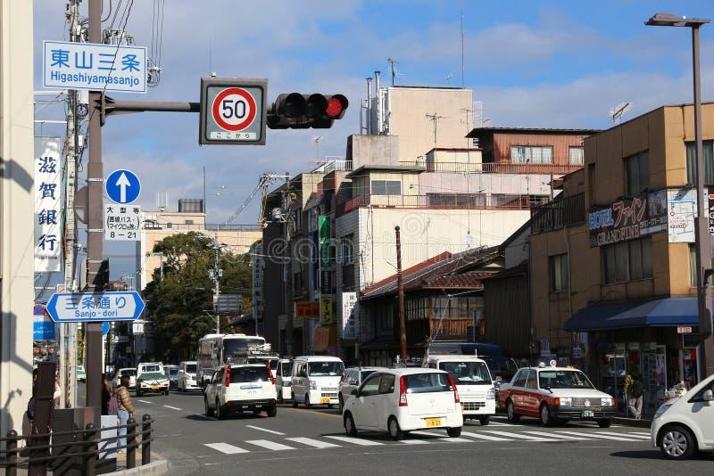 De stad van Kyoto, Japan royalty-vrije stock fotografie