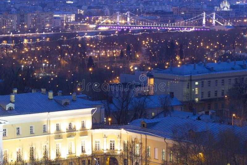 De stad van landschapsmoskou, Moskou, Rusland stock foto