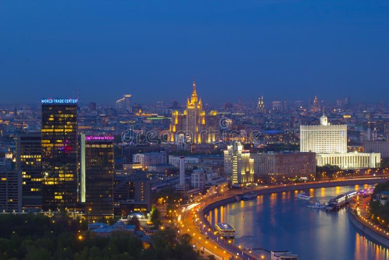 De stad van landschapsmoskou, Moskou, Rusland stock afbeeldingen