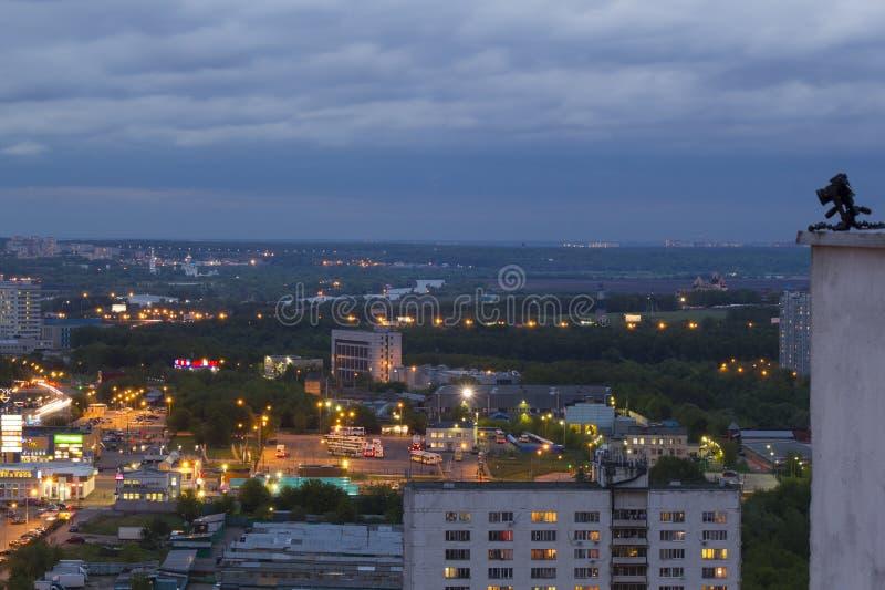 De stad van landschapsmoskou, Moskou, Rusland stock fotografie