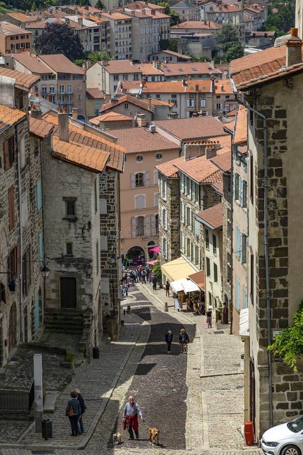 De stad van Le Puy-en-Velay - Frankrijk royalty-vrije stock afbeeldingen
