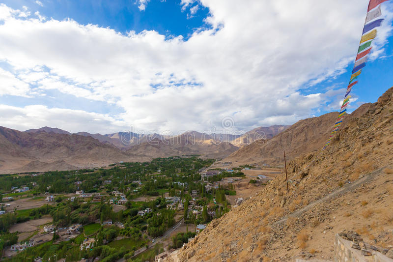 De stad van Lehladakh royalty-vrije stock foto's