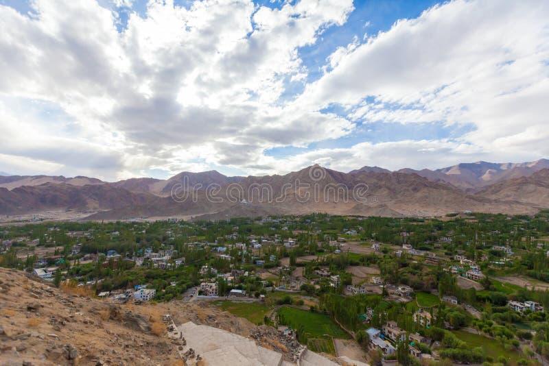 De stad van Lehladakh royalty-vrije stock afbeeldingen