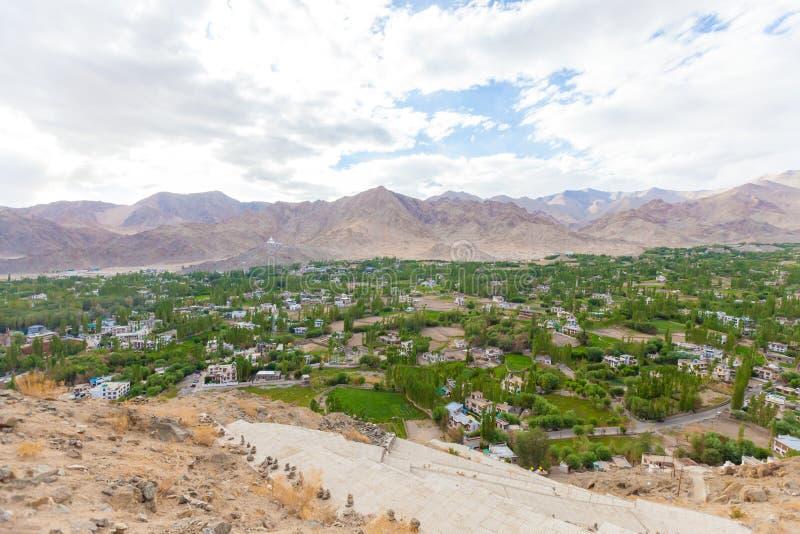 De stad van Lehladakh stock foto's