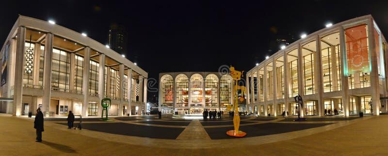 De Stad van Lincoln Center Panorama - van New York royalty-vrije stock fotografie