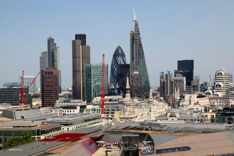 De stad van Londen één van de belangrijke centra van globale mening finance stock foto's