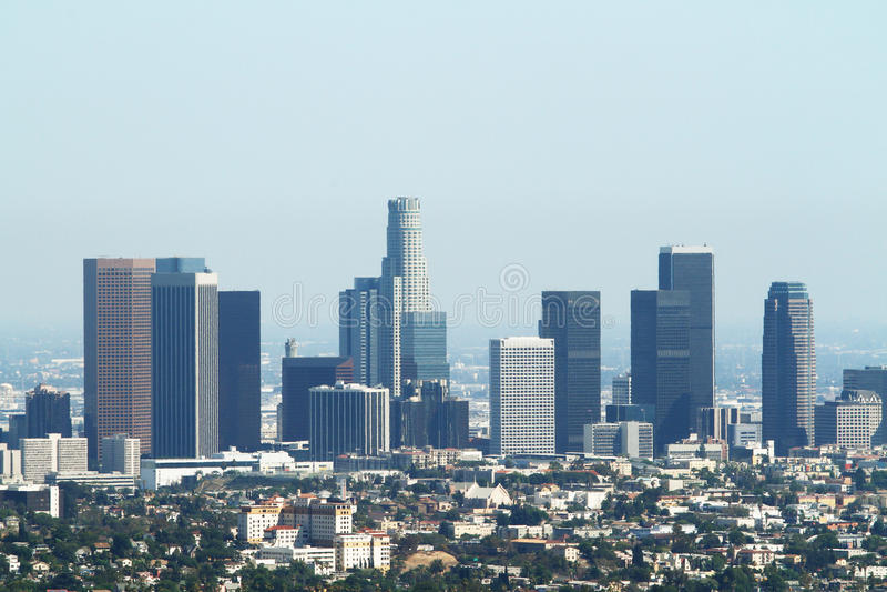 De stad van Los Angeles stock afbeelding