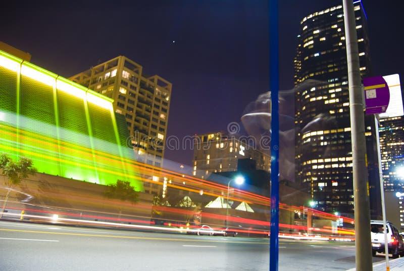 De Stad van Los Angeles bij nacht royalty-vrije stock afbeeldingen