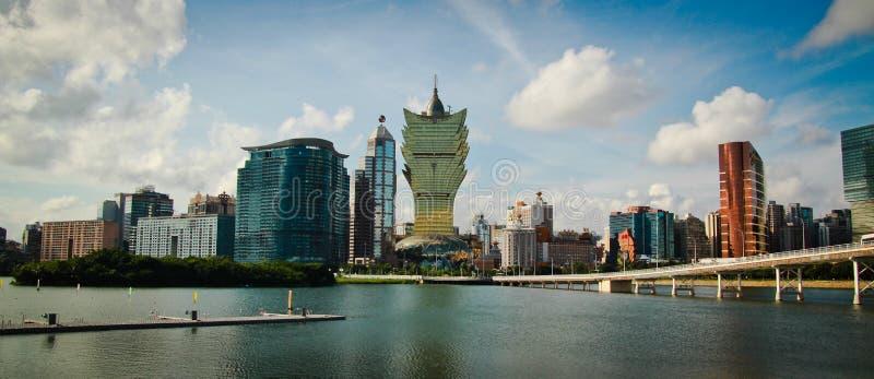 De stad van Macao stock foto