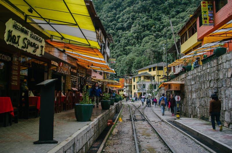 De stad van Machupicchu stock foto