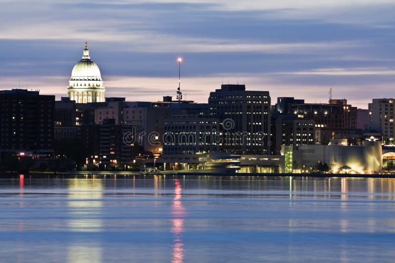 De stad in van Madison stock foto