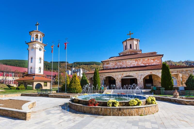 De stad van Makedonskakamenica in Republiek Macedonië stock foto's