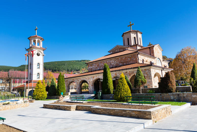 De stad van Makedonskakamenica in Republiek Macedonië royalty-vrije stock afbeeldingen