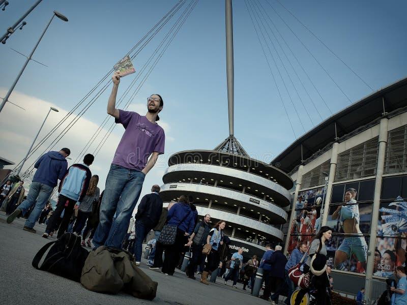 De Stad van Manchester - Wigan FA-Kop royalty-vrije stock afbeeldingen