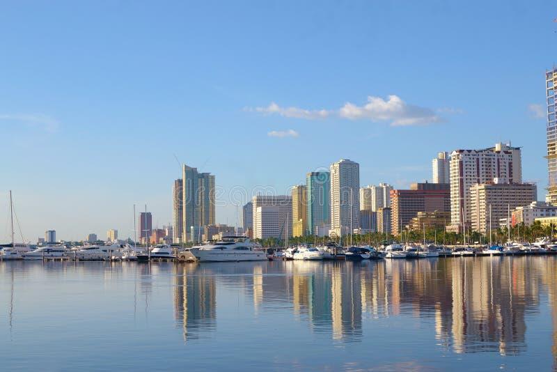 De stad van Manilla scape stock foto