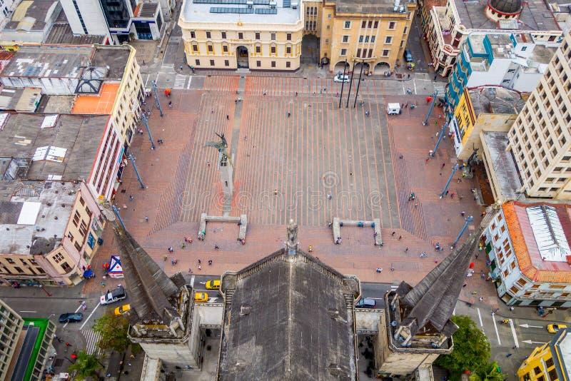 De stad van Manizales in Colombia stock foto