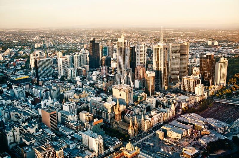 De stad van Melbourne royalty-vrije stock foto