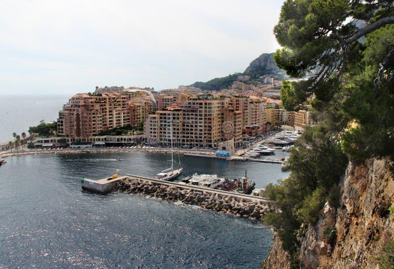 De stad van Monte Carlo, Monaco, de Provence stock afbeeldingen