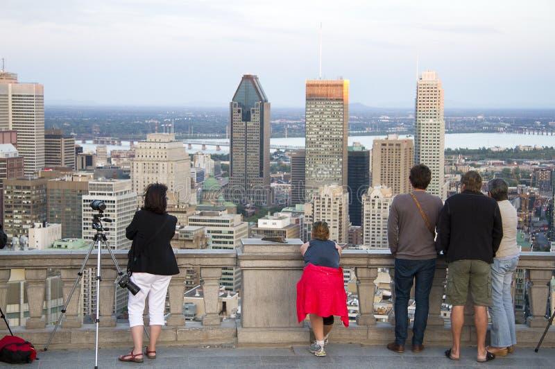 De stad in van Montreal royalty-vrije stock afbeelding
