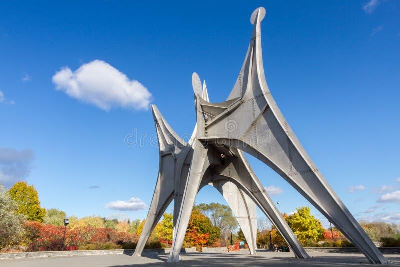 De stad van Montreal in de herfst, Canada stock foto's