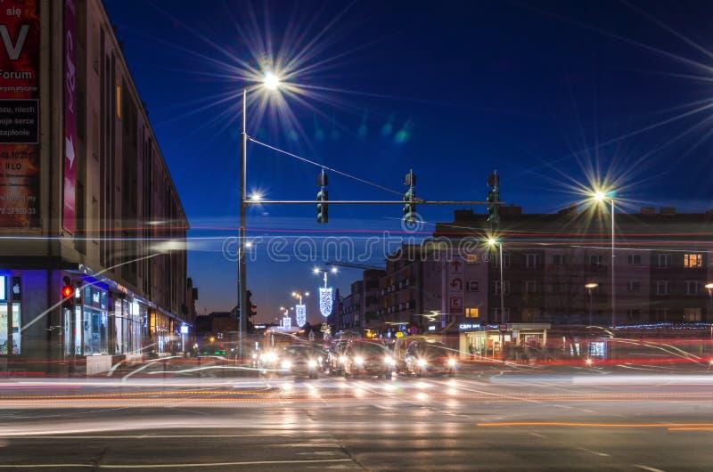 De stad van de nacht royalty-vrije stock foto