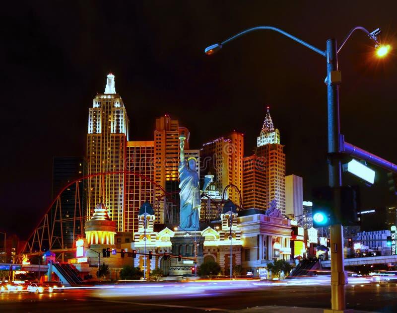 De Stad van nachtlevenlas vegas, Vermaakstad stock fotografie