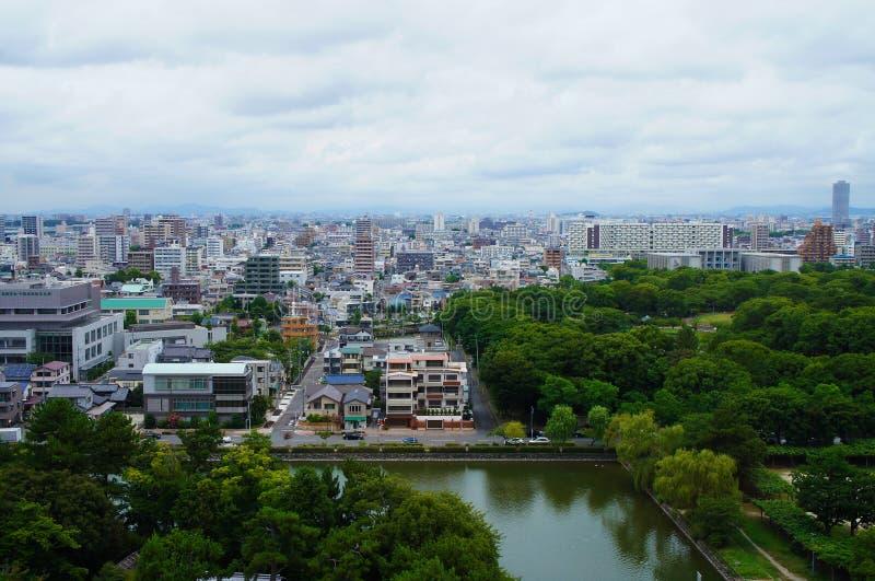 De Stad van Nagoya, Japan stock foto